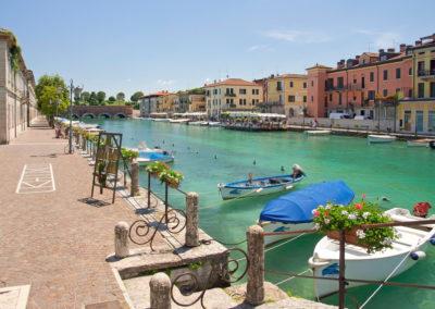 Peschiera del Garda, Italien, Mincio, Boote
